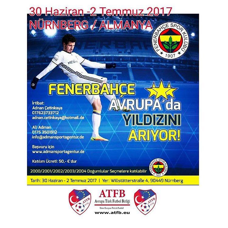 Fenerbahçe Futbolcu Seçmeleri - ATFB- Avrupa Türk Futbol Birliği