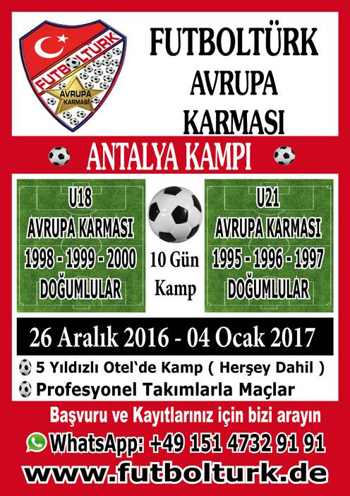FutblTürk Avrupa Karması Antalya Kampı -2017